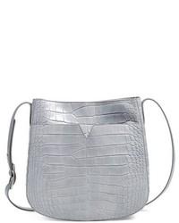 Vince Medium Croc Embossed Leather Crossbody Bag
