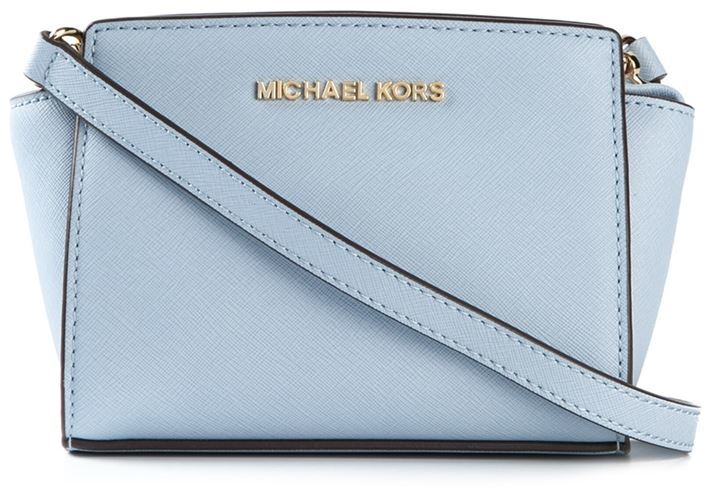 709069d4ad ... Light Blue Leather Crossbody Bags MICHAEL Michael Kors Michl Michl Kors  Selma Crossbody Bag