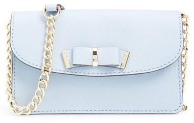 Michael Kors Small Kiera Saffiano Leather Crossbody Bag Nordstrom Exclusive Light Blue