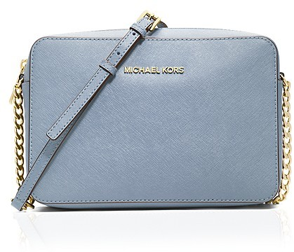 cebc9e4cc424 ... Blue Leather Crossbody Bags MICHAEL Michael Kors Michl Michl Kors Jet  Set Large Saffiano Leather Crossbody ...