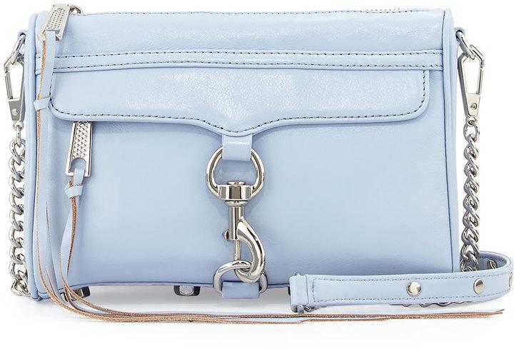 Rebecca Minkoff Mini Mac Crossbody Bag Light Blue