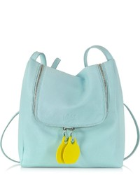 Mm6 Maison Martin Margiela Pastel Blue Leather Crossbody Bag