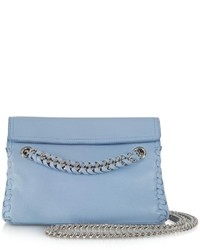 Roberto Cavalli Pompei Leather Crossbody Bag Wchain Strap