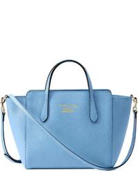 35fde12c765e6f Women's Light Blue Leather Crossbody Bags by Gucci | Women's Fashion ...