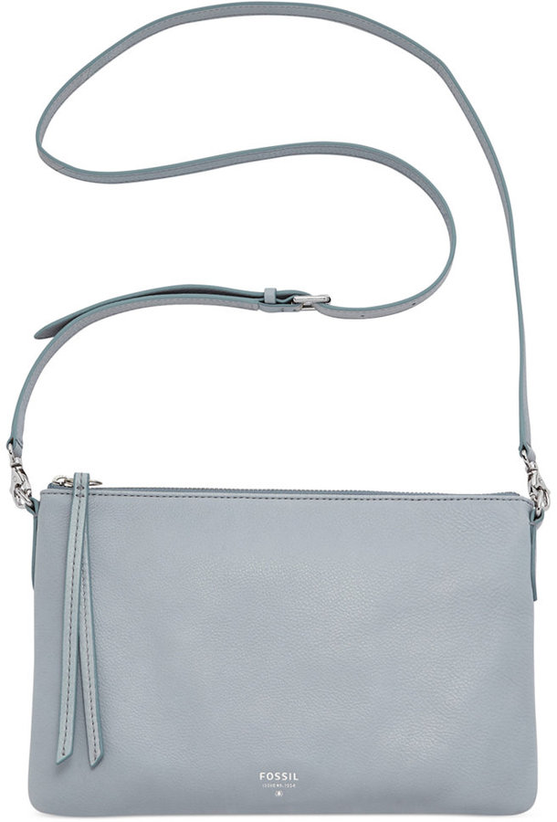 ... Bags Fossil Sydney Leather Top Zip Crossbody ... 2553eb2deedac