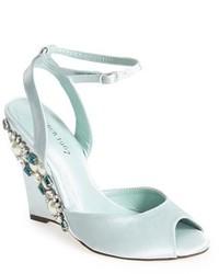 Menbur Ableniz Crystal Embellished Wedge Sandal