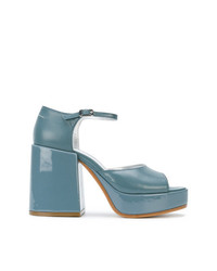 MM6 MAISON MARGIELA Block Heel Platform Sandals