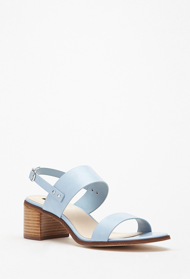 7cff4c98416 Forever 21 Faux Leather Slingback Sandals
