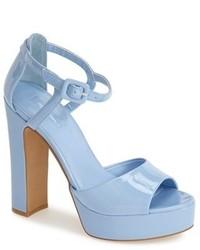 Topshop Lena Ankle Strap Platform Sandal