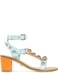 Markus Lupfer Colour Block Chunky Heel Sandals