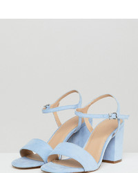 ASOS DESIGN Winter Extra Wide Fit Heeled Sandals