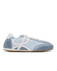 Loewe Blue And White Ballet Runner Sneakers
