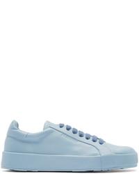 Jil Sander Blue Leather Low Top Sneakers