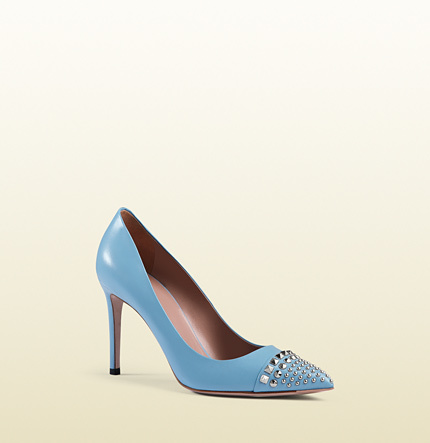 Gucci Studded Leather Pump, $650
