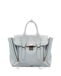 3.1 Phillip Lim Pashli Medium Zip Satchel Bag Light Blue