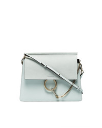 Grey faye leather shoulder bag medium 7586643