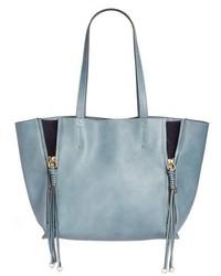 Chloé Chloe Medium Milo Calfskin Leather Tote Grey