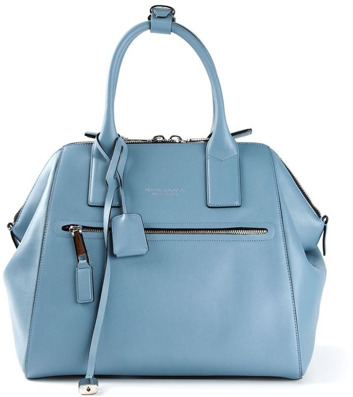 058a30fe0c8 ... Light Blue Leather Tote Bags Marc Jacobs Large Incognito Tote Bag