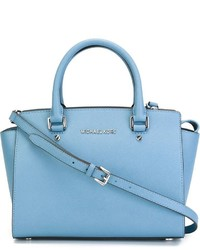 ccf7f2ec3e56 Women's Light Blue Leather Tote Bags by MICHAEL Michael Kors ...