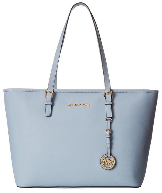 913e47970b48a ... Light Blue Leather Tote Bags MICHAEL Michael Kors Michl Michl Kors Jet  Set Travel Tz Tote ...