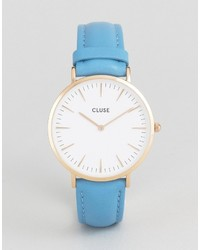 Light Blue Leather Watch