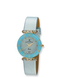 14k.co Ladies Jacques Du Manoir Light Blue Strap Watch