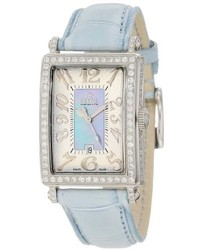 Gevril 7247nv Mini Quartz Avenue Of Americas Blue Diamond Watch