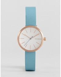 Skagen Leather Signature Watch