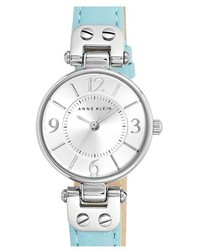 Anne Klein Round Leather Strap Watch 26mm