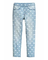 H&M Patterned Denim Leggings