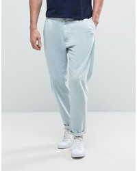 Asos Lightweight Double Pleated Bleach Jean