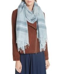 Eileen Fisher Stripe Wool Blend Scarf