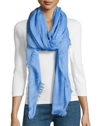 Renee's Accessories Textured Fringe Scarf Blue