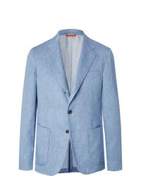 Tod's Light Blue Linen Suit Jacket