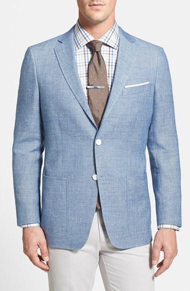Composizione caffè Sfaccettatura  Hart Schaffner Marx New York Classic Fit Wool Linen Blazer, $595 |  Nordstrom | Lookastic