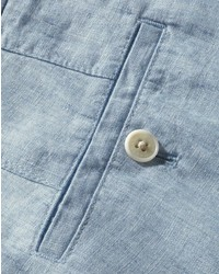 bff684b2 ... Charles Tyrwhitt Light Blue Slim Fit Linen Tailored Pants Size W34 L30  By ...