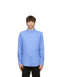 Polo Ralph Lauren Blue Linen Classic Fit Shirt