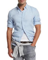 Leisure fit linen sport shirt medium 949490