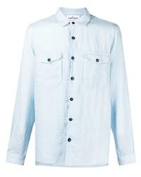 Stone Island Long Sleeved Linen Shirt