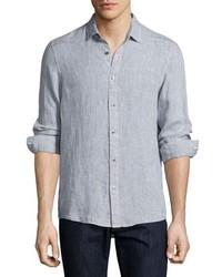 Michael Kors Michl Kors Alexander Slim Fit Linen Sport Shirt