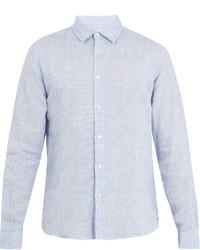 Orlebar Brown Morton Point Collar Linen Shirt