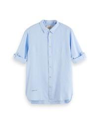 Scotch & Soda Regular Fit Linen Button Up Shirt