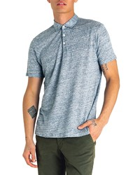 Good Man Brand Slim Fit Short Sleeve Heathered Linen Polo