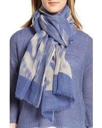 Eileen Fisher Linen Organic Cotton Ikat Scarf
