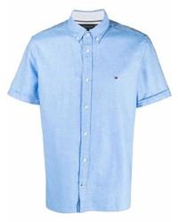 Tommy Hilfiger Logo Embroidered Short Sleeve Shirt