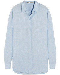 67d71798a Acne Studios Deide Pinstripe Cotton Tunic Shirt White Out of stock · Acne  Studios Bela Slub Linen Shirt Sky Blue