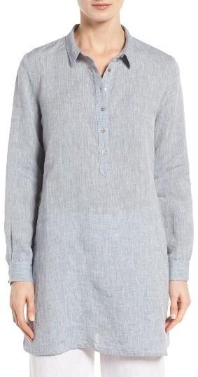 a42b8a8c Eileen Fisher Handkerchief Organic Linen Tunic Shirt, $228 ...