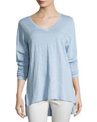 Organic linen jersey v neck tunic medium 3750061