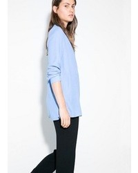 Light blue long sleeve blouse original 10021768