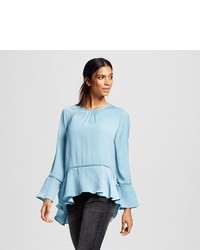 Mossimo Long Sleeve Peplum Blouse